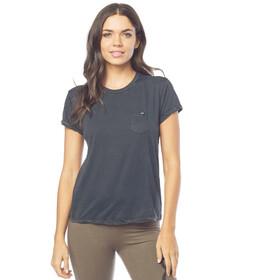 Fox Washed Out Pocket T-Shirt Dames zwart